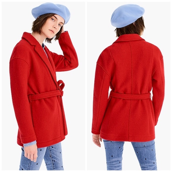 4b6565c5b9128 J. Crew Camille Short Wrap Coat in Italian Wool